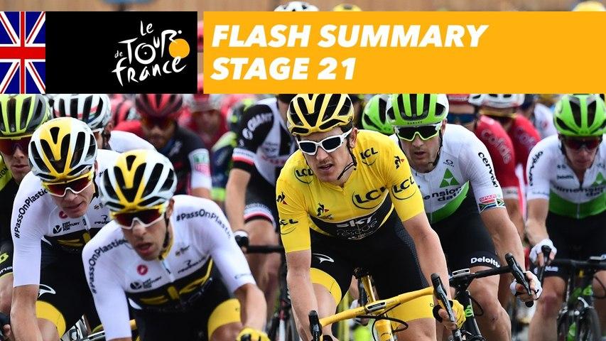 Flash Summary - Stage 21 - Tour de France 2018