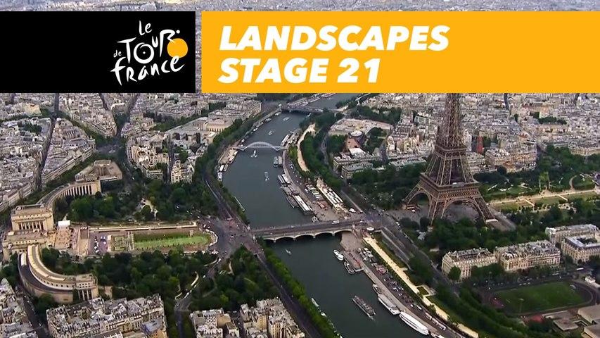 Paysages du jour / Landscapes of the day - Étape 21 / Stage 21 - Tour de France 2018