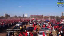 Nelson Chamisa Motorcade leaving Freedom Square.