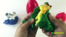 Learn to spell colors and animals with ABC SURPRISES And Play Doh Eggs Surprises