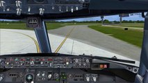 FSX - Wing Views - Zurich Takeoff and Amsterdam Landing - PMDG 737
