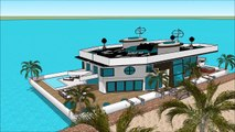 Sims 6 sims house building modern challenge best sims house designs Floating houseboat yacht life ya