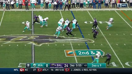 2016 - Ryan Tannehill sacked on rollout by Matthew Judon