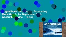 Digital book  Accounting: Accounting Made Simple for Beginners, Basic Accounting Principles and
