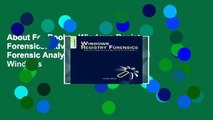About For Books   Windows Registry Forensics  Advanced Digital Forensic Analysis of the Windows