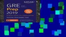 View GRE Prep 2019: Practice Tests + Proven Strategies + Online (Kaplan Test Prep) Ebook GRE Prep