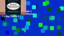Ebook Merriam-Webster s Rhyming Dictionary: Rhymes for the Times Full