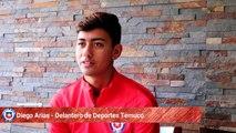 Una de las recientes figuras jóvenes y emergentes del fútbol chileno toma la palabra. El delantero de Deportes Temuco, que ya marcó en su segundo duelo como pro
