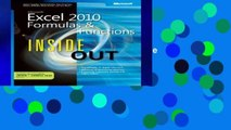 Get Trial Microsoft Excel 2010 Formulas and Functions Inside Out For Ipad