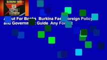 About For Books  Burkina Faso Foreign Policy and Government Guide  Any Format