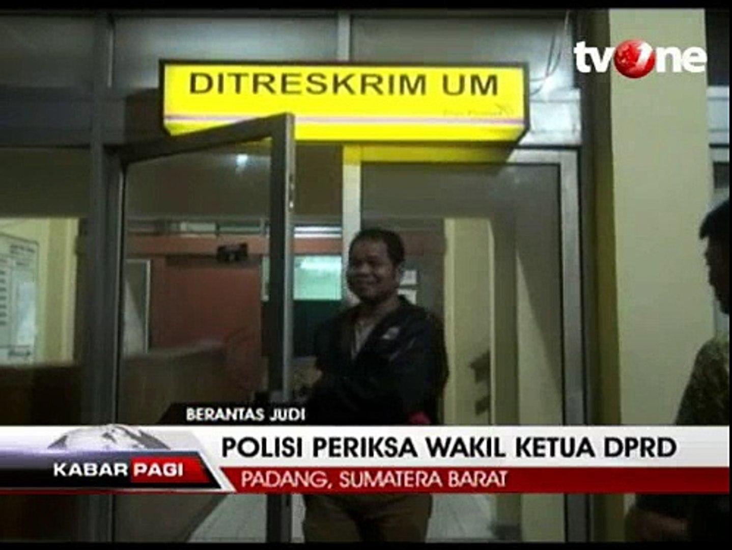 Terlibat Judi, Wakil Ketua DPRD Kota Padang Diamankan Polisi