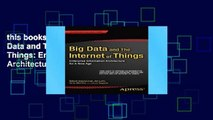 this books is available Big Data and The Internet of Things: Enterprise Information Architecture