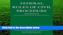 Full version  Federal Rules of Civil Procedure; 2018 Edition: With Statutory Supplement