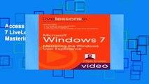 Access books Microsoft Windows 7 LiveLessons (Video Training): Mastering the Windows User