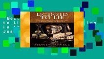 Best ebook  Licensed to Lie: Exposing Corruption in the Department of Justice  Unlimited