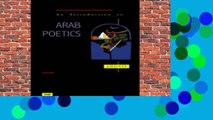 About For Books  An Introduction to Arab Poetics  Any Format