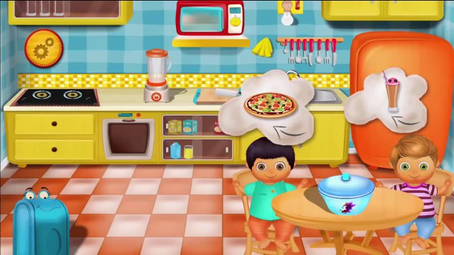 Baby Panda Kitchen, Cooking Burger, Pizza, Pasta, Cupcakes And Making Drinks | Kids kitche