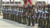 Zambiya ordusu Erdoğan için böyle hazırlandı