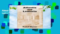 About For Books  Atlantis and Lemuria  Review
