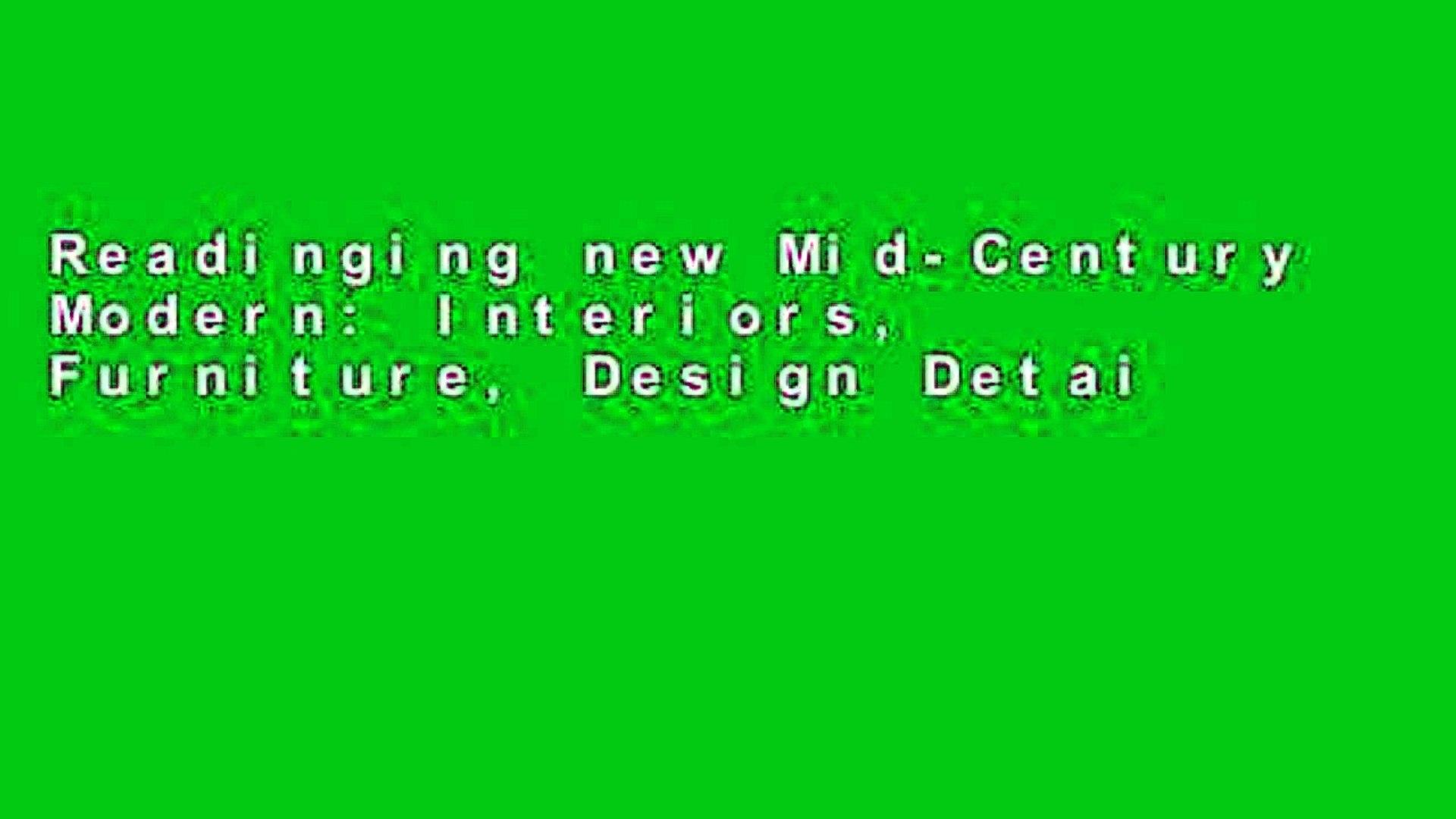 Readinging new Mid-Century Modern: Interiors, Furniture, Design Details (Conran Octopus Interiors)