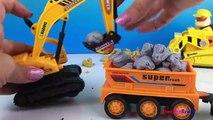 Play Doh fun with Project Truck Mechanism Zone aka Mighty Machines Excavator Bulldozer & Paw Patrol