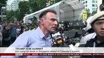 Trump Kim summit- North Korean leader arrives in Singapore - BBC News