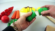 Learn Names of Fruits and Vegetables with Toy Velcro Cutting Fruits and Vegetables Toy Pla
