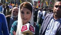 Reham khan joins the protest to show solidarity with Kashmiris As Kashmiris are protesting in London against Indian PM Modi's visit. They are demanding free &