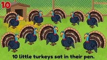 Thanksgiving Songs for Children Ten Little Turkeys Turkey Kids Songs by The Learning Stati