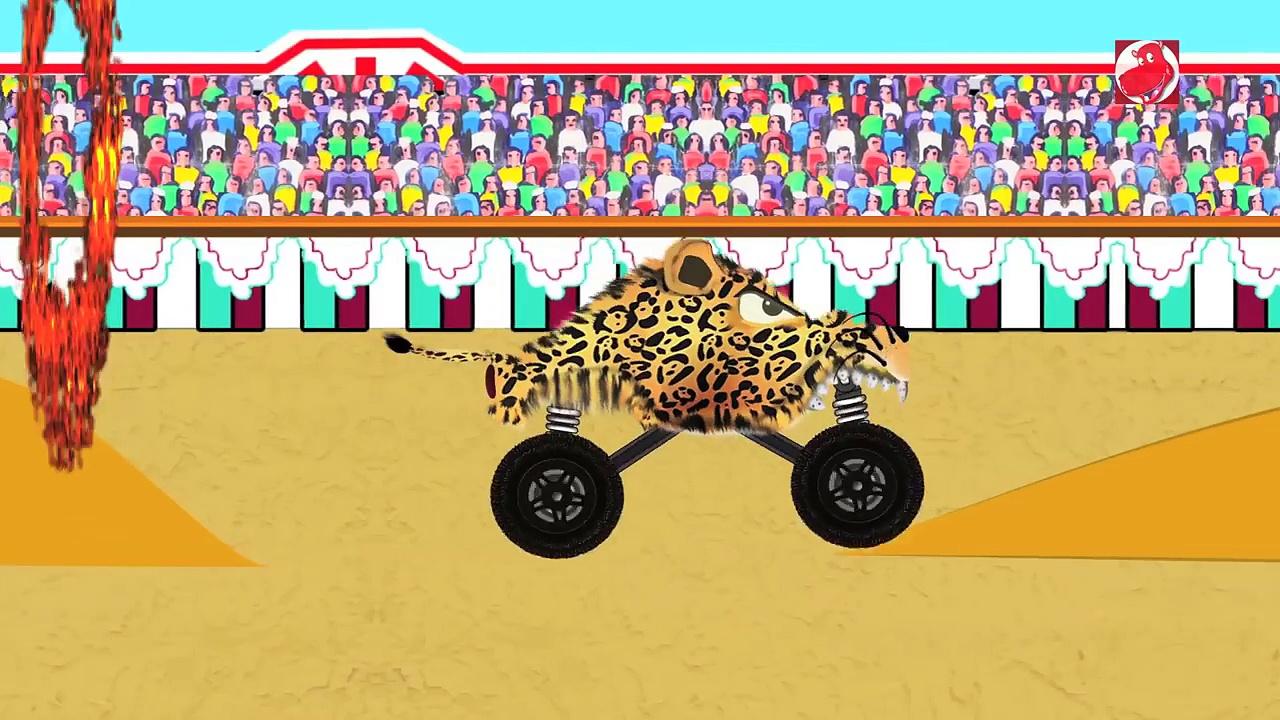 Monster Trucks | Cat & Mouse | Animals Monster Trucks