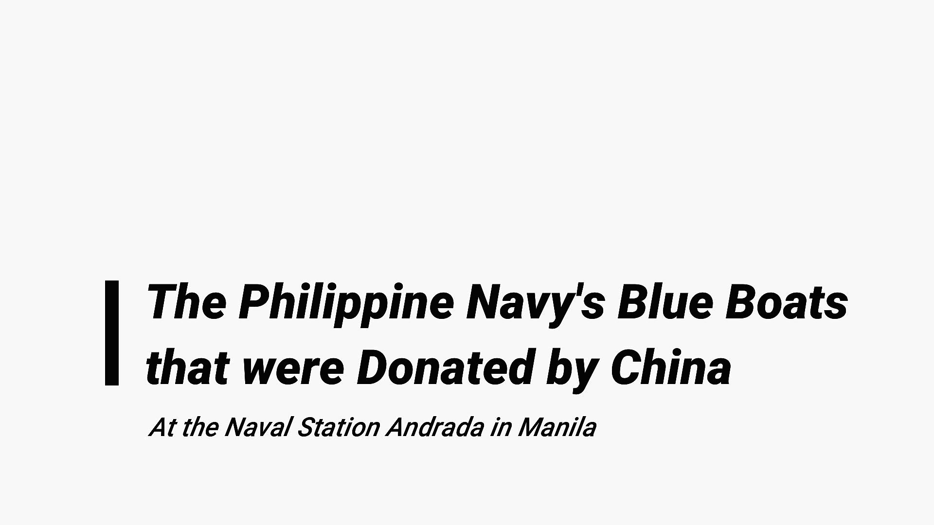 China Donated Blue Boats