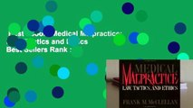 Best ebook  Medical Malpractice: Law, Tactics and Ethics  Best Sellers Rank : #3