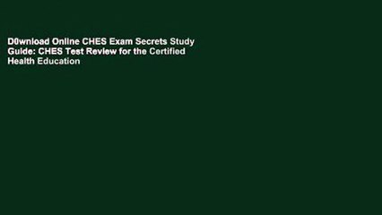 D0wnload Online CHES Exam Secrets Study Guide: CHES Test Review for the Certified Health Education