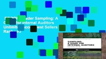 EBOOK Reader Sampling: A Guide for Internal Auditors Unlimited acces Best Sellers Rank : #3