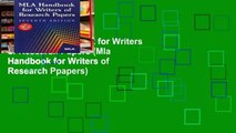 View MLA Handbook for Writers of Research Papers (Mla Handbook for Writers of Research Ppapers)