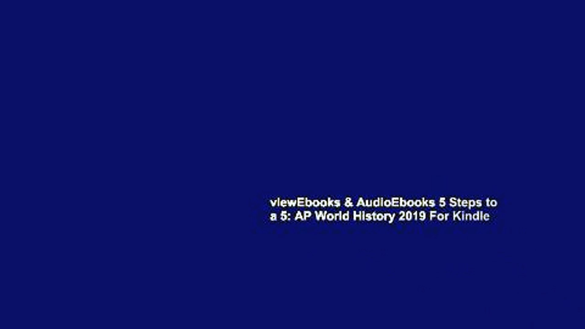 viewEbooks & AudioEbooks 5 Steps to a 5: AP World History 2019 For Kindle