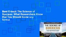 Best E-book The Science of Success: What Researchers Know that You Should Know any format