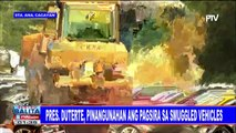 Pres. #Duterte, pinangunahan ang pagsira sa smuggled vehicles