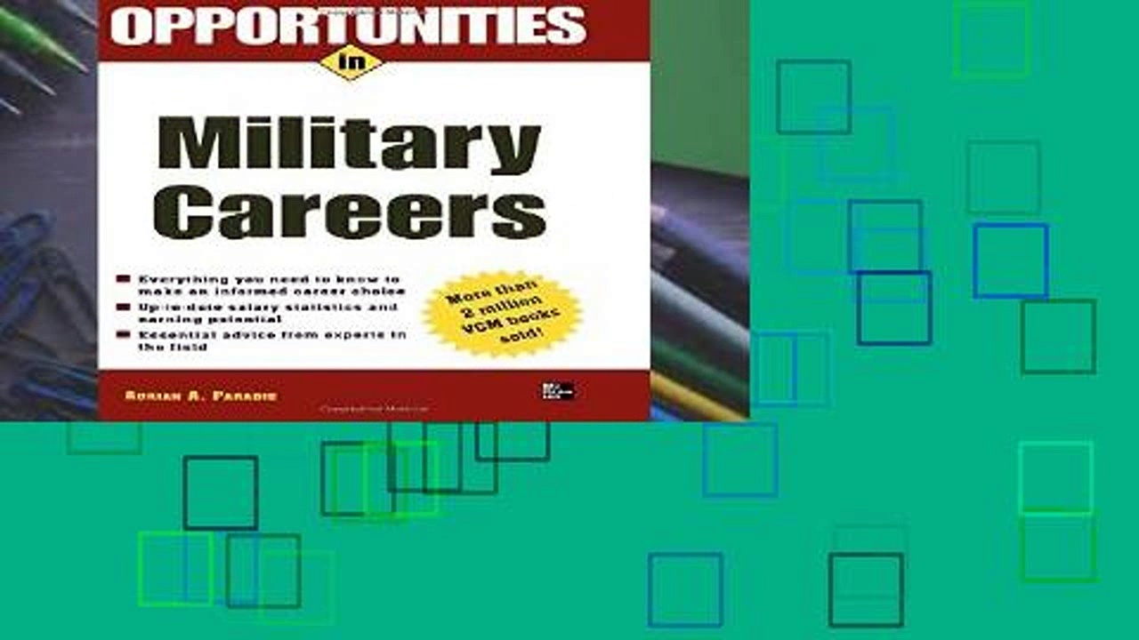 New E-Book Opportunities in Military Careers, Revised Edition (Opportunities in … (Paperback))