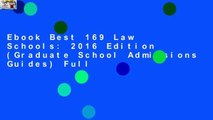 Ebook Best 169 Law Schools: 2016 Edition (Graduate School Admissions Guides) Full