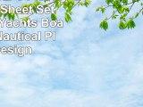 Rugged Bear 3 Piece Twin Size Sheet Set Navy Blue Yachts Boats Ships Nautical Plans Design