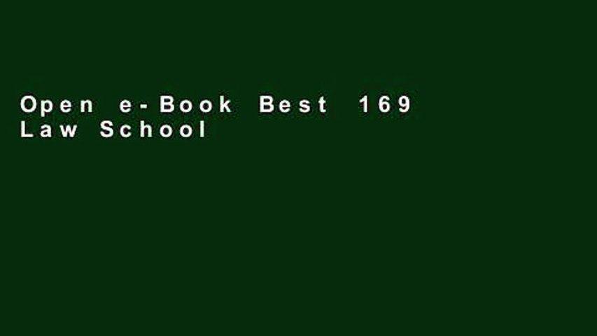 Open e-Book Best 169 Law Schools: 2014 Edition (Graduate School Test Preparation) Full