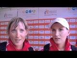Laura & Marie Polli (SUI) after 20K Race, Senior Women