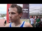 Jussi Utrainen after the B-race at the EC 10,000m, Bilbao