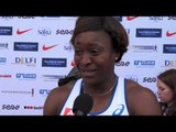 Antoinette Nana Djimou (FRA) after the first day at EC Combined Events Super League, Tallinn 2013