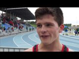 Liam Dee GBR after winning the 1500m, Brno