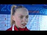 Anna Emilie Moller (DEN) after winning Silver in the 5000m