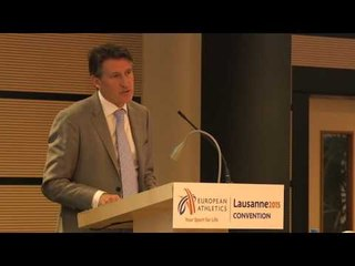 Sebastian Coe keynote speech at the European Athletics Convention