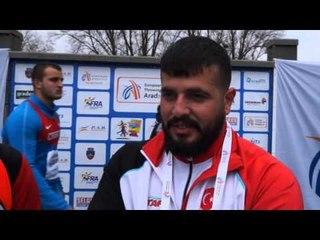 Ozkan Baltaci (TUR) after winning U23 Hammer Throw