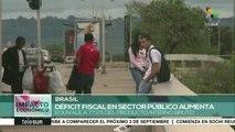 Brasil: déficit fiscal en sector público equivale a 77.2% del PIB